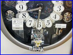 NEW SEIKO MELODY IN MOTION CLOCK QXM379SRH With18 HI-FI MELODIES & WESTMINSTER