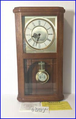 NOS Seiko Quartz Wooden Wall Pendulum Clock Westminster Whittington withChime