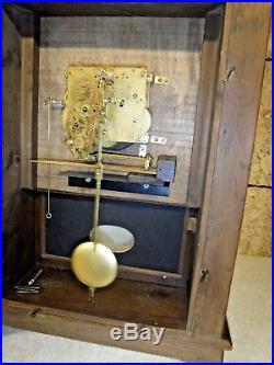 New England Clock Co Pillar & Scroll Westminster Chime Working Bristol Conn