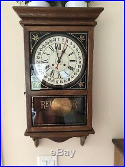 New England Store Regulator Wall Clock Westminster Chime Working Farmington Conn