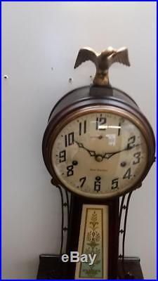 New Haven Whitney Westminster Chime Banjo Wall Clock