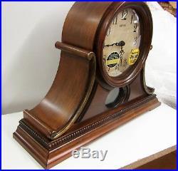 New Wsm Tuscany II Mantel Clock Wooden Case 19 Melodies Crj733ur06