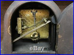 Oak Case Westminster Chime Mantle Clock-Excellent Mechanically & Cosmetically