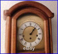 Oak cased westminster chimes wall clock