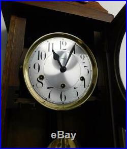 Oak westminster chimes wall clock