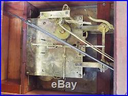 Old Antique 1920s Mahogany KIENZLE MANTEL BRACKET CLOCK Westminster CHIME -RUNS