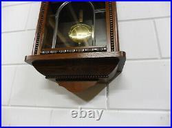 Old Dutch Warmink Wall Clock Westminster Chime Oak Wood