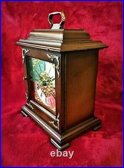 Old Mahogany German Westminster Bracket Mantle Chime Clock