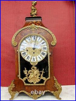 Old Mantel Clock Vintage 8 Day Clock Louis XV Boulle RococoWESTMINSTER 76 cm