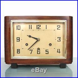 PFEILKREUZ JUNGHANS HAC Mantel Clock Westminster BAUHAUS! Antique Germany Chime