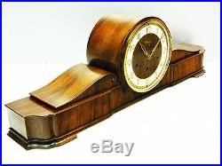 Pure Art Deco Kienzle Westminster Chiming Mantel Clock With Pendulum