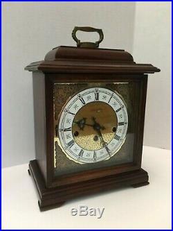 Pristine Hamilton U. S. A 340-020 Westminster Chime 8 Day Bracket Clock Working