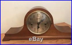 RARE Antique Herschede Mantle Westminster Chime Clock H-808 w Key WORKS! Nr