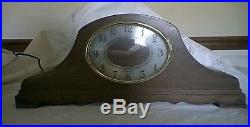 RARE HERSCHEDE MANTEL CLOCK Revere Westminster Chimes Electric Oval Face R 913