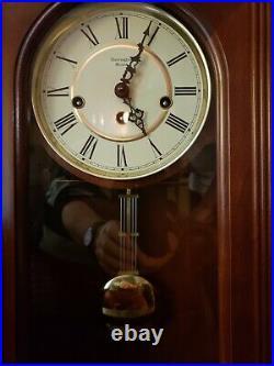 RARE Harrington House Westminster Chime Cherry Finish Mantle Wall Clock23 Tall