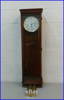 RARE Howard Miller Milan Wall Clock Model 613-212 Cherry Wood Westminster Chime