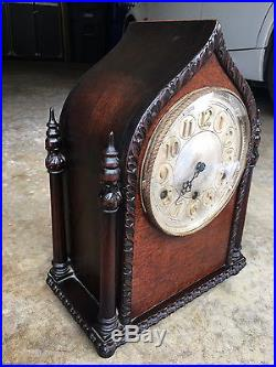 Rare Old Antique Double Steeple Acorn Top Herman Miller Clock Westminster Chime