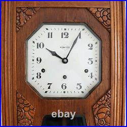 RARE Wall Clock BROTHER JOHN /Westminster Chime ANTIQUE 10 Bars ART DECO! France