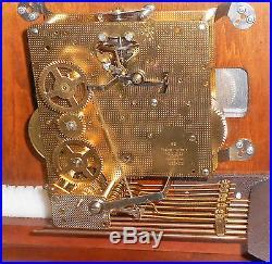 Ridgeway U. S. A Triple +westminster Chime Tompion Bracket Clock 1050-020 Working