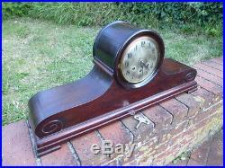 Rare Antique Gustav Becker Westminster Chimes KC Co. Mahogany Mantel Clock 30