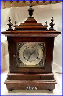 Rare Antique New Haven Double Movement Westminster Bracket Mantel Clock