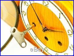Rare Beautiful Art Deco Kienzle Westminster Chiming Mantel Clock With Pendulum
