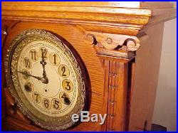 Rare C. 1911 New Haven Bracket Clock, Canadian Willcock Patent Westminster Chime