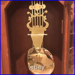 Rare Carved Wood Tall Wall Pendulum Westminster Chime Wall Clock Needs Repair
