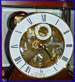 Rare Forum Westminster Chime On Bells 8 Day Skeleton Bracket Clock Working