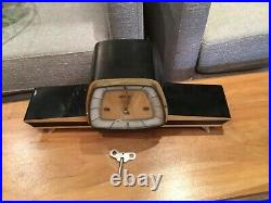 Rare German Franz Hermle MID Century Modern West Minster Chime Clock No Res