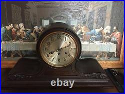 Rare Herschede Model 10 Mahogany Antique Canterbury & Westminster Chimes Clock
