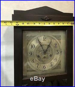 Rare Herschede Westminster Chime Wall Clock Model 15 1016