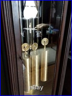 Rare antique herschede westminster 5 tube chime grandfather, grandmother clock