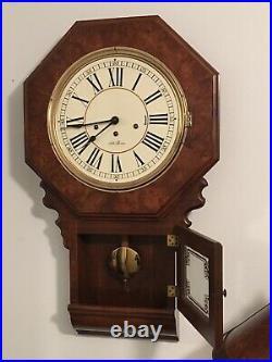 Rare seth thomas westminster chime 12 drop down square wall clock