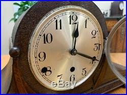 Restored Antique Pre WWI 1928 Chiming German Foreign Westminster Mantel Clock