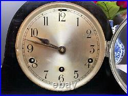Restored, Ebonised, Beautiful Westminster Chiming Mantel Clock with Key Pen GWO