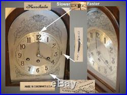 Restored Herschede Model 10-1920 Canterbury&westminster Chimes Antique Clock