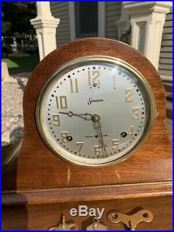 Restored Pre WWII 1927 Sessions Westminster 3 Chime Mantel Clock Warranty