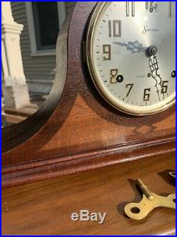 Restored Pre WWII 1932 Sessions Westminster B Chime Mantel Clock Year Warranty