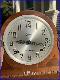 Restored Pre WWII 1937 Sessions Westminster Chime WC 94 Mantel Clock Warranty