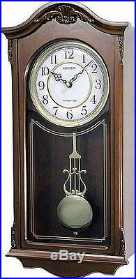 Rhythm Deluxe Wooden Pendulum Wall Clock Westminster Chime