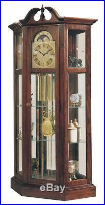 Ridgeway 9701 Richardson Chiming Cherry Curio Clock with Shelves