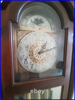 Ridgeway Grandfather Clock Runs Great Beautiful Westminster Chimes