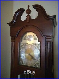 Ridgeway Tempus Fugit Grandfather Clock 7' Weight Driven Westminster Chime
