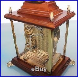 SCHATZ Mantel CLOCK Translucent TOP! Westminster German TRIPLE CHIME Mid Century