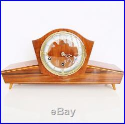 SCHATZ Mantel Clock JUBA Vintage WESTMINSTER Chime HIGH GLOSS Mid Century German