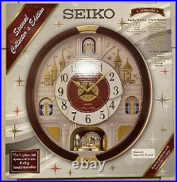 SEIKO Melodies In Motion Clock THE BEATLES Special Edition QXM565BRH Swavorski