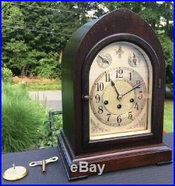 SETH THOMAS Chime#72 Westminster Chime Beehive Cathedral Mantle Clock 113A Runs