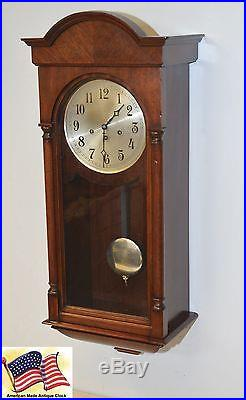 Seth Thomas Mahogany Grand Antique Westminster Chimes Clock Number 102 1914