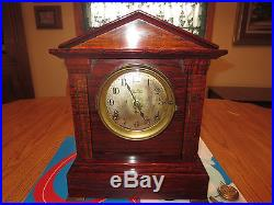 SETH THOMAS SONORA 4 bell Westminster chime ADAMANTINE rosewood clock 1908